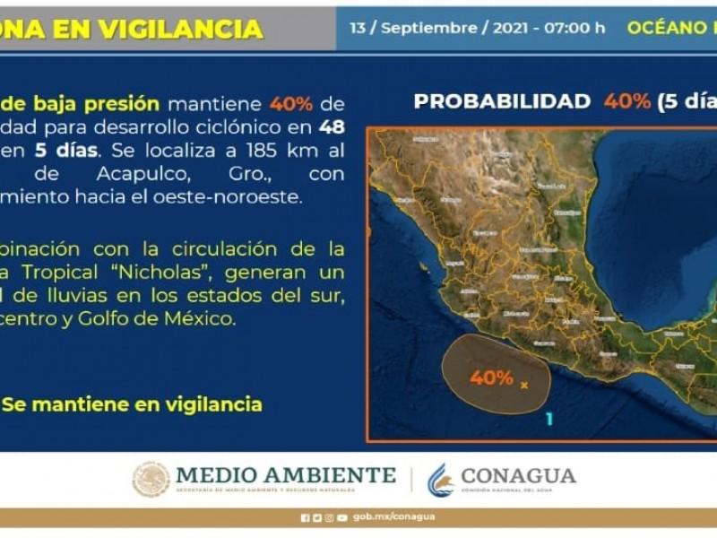 Se vigila zona de baja presión frente a Acapulco