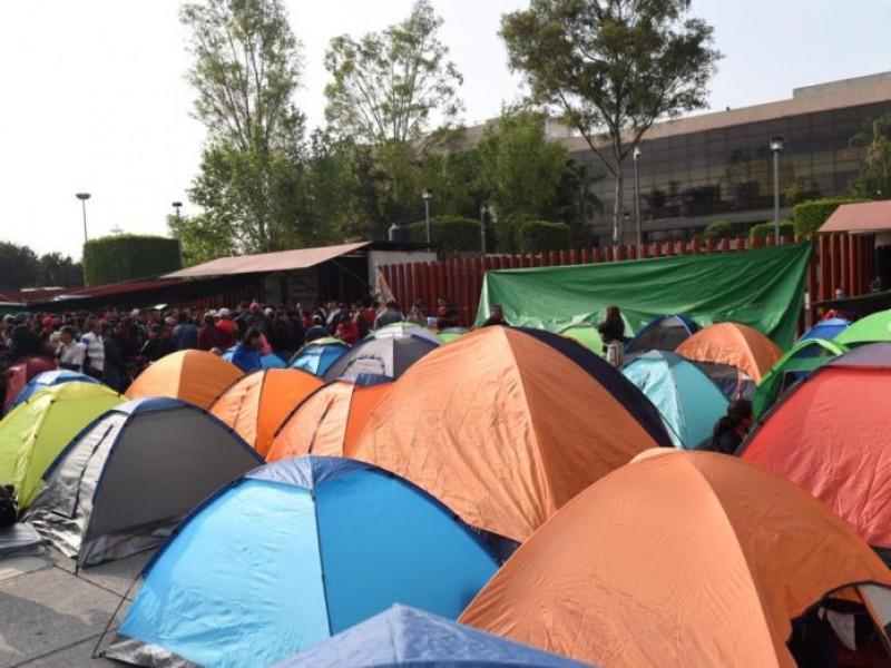 📹Sección 22 de la CNTE bloquea San Lázaro