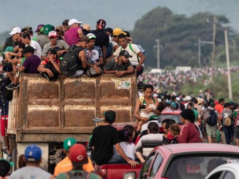 Sección XXII apoya caravana de migrantes