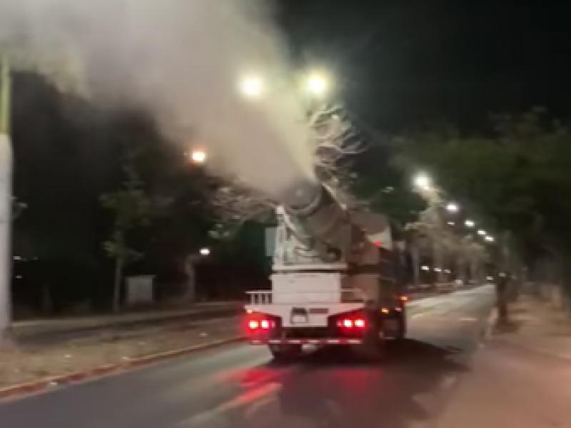 Secretaría de Salud investiga procedencia de camión sanitizante