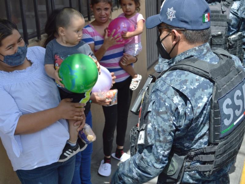 Secretaría de Seguridad repartió juguetes en 5 municipios