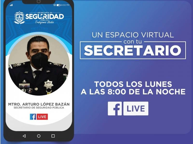 Secretario de Seguridad abre espacio virtual para acercamiento con sociedad
