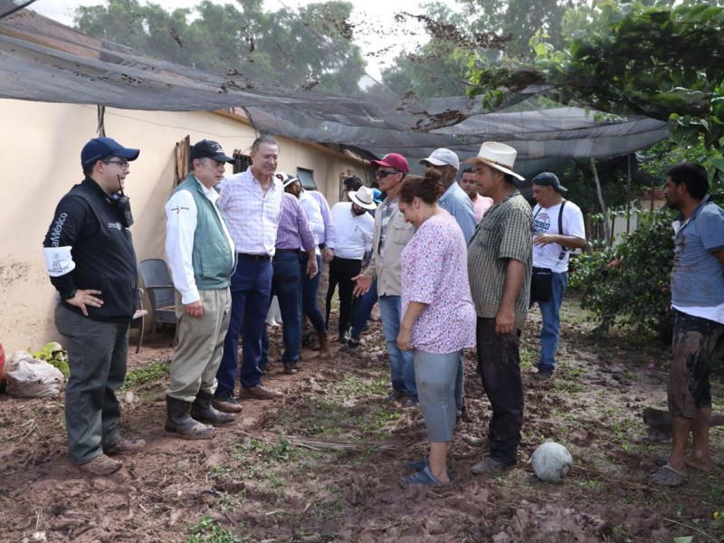 📷Secretarios Federales y Gobernador recorren zonas afectadas