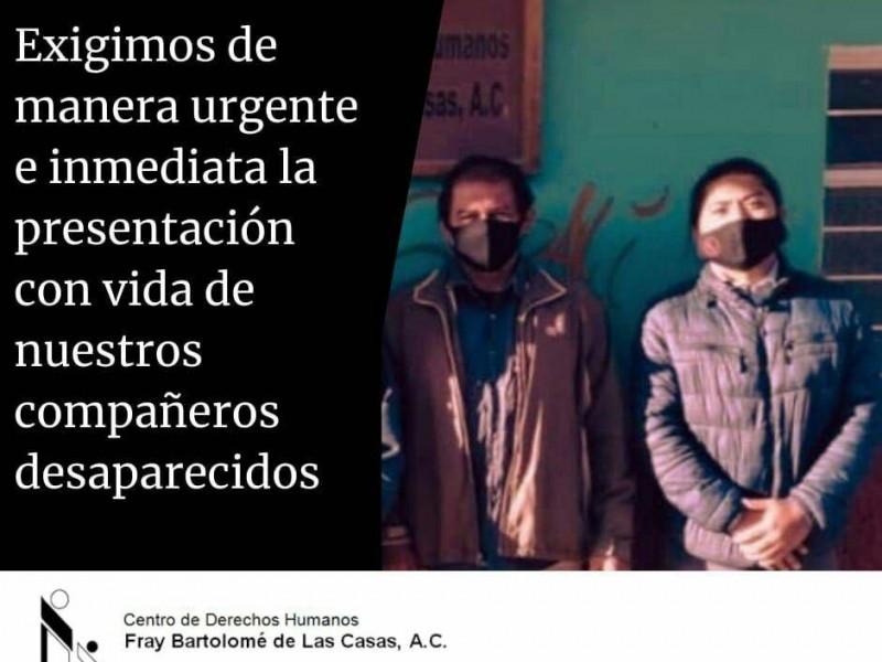 Secuestran a defensores de Derechos Humanos en Ocosingo