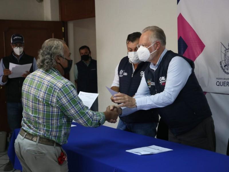 SEDEA entrega apoyos a productores de San Juan del Río