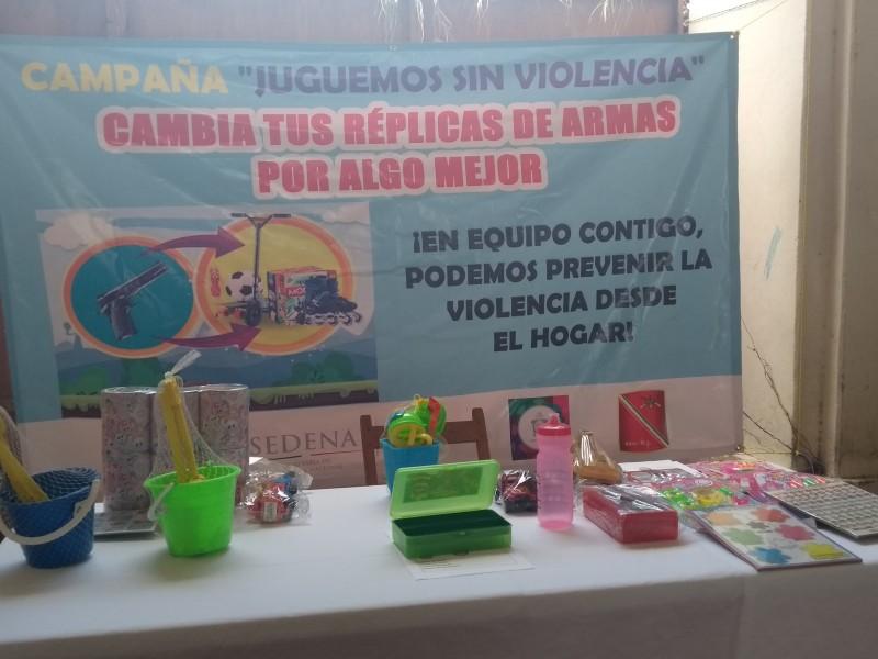SEDENA implementa campaña Juguemos Sin Violencia