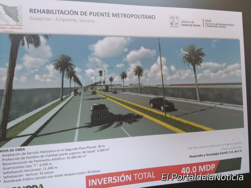 Seguiràn trabajos en Puente Metropolitano