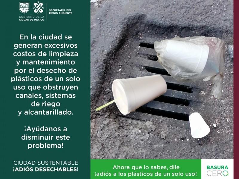 Segunda etapa de prohibición plásticos en Cdmx