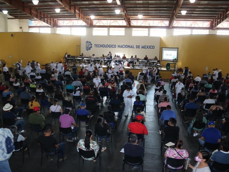 Segundo día con más de 5,000 vacunas a personal educativo