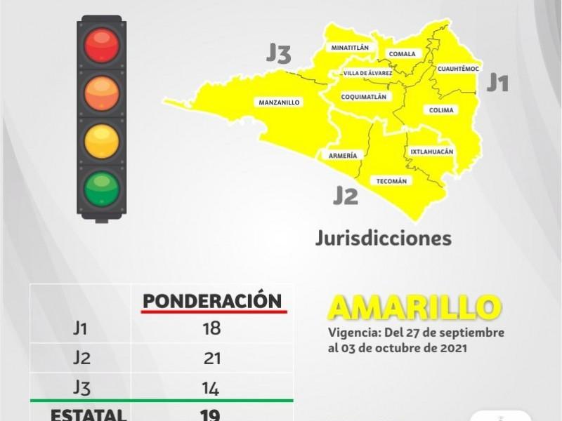 Semáforo amarillo es por baja en indicadores: Salud Colima