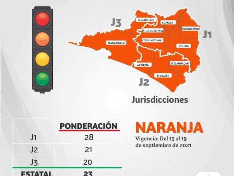 Semáforo epidemiológico estatal permanecerá color anaranjado del 13-19 septiembre