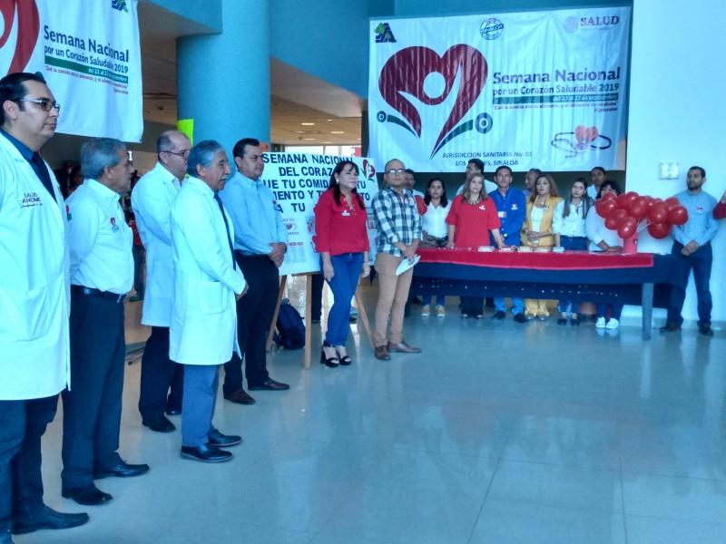 Inicia semana Nacional por un Corazón Saludable 2019