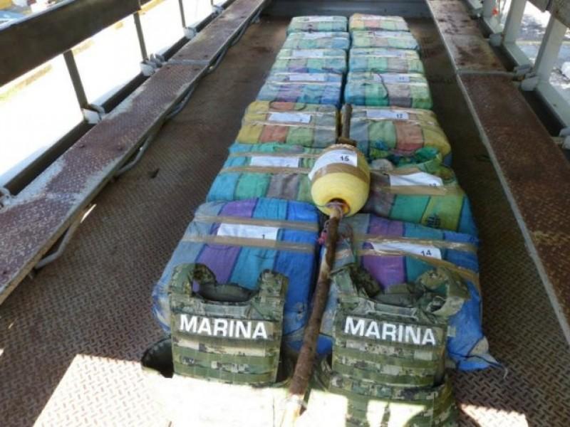 Semar decomisa más de 894 kg de cocaína