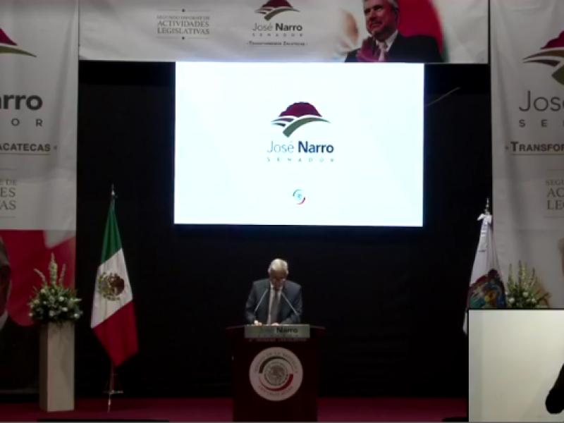 Senador José Narro Céspedes ofrece su segundo informe de actividades