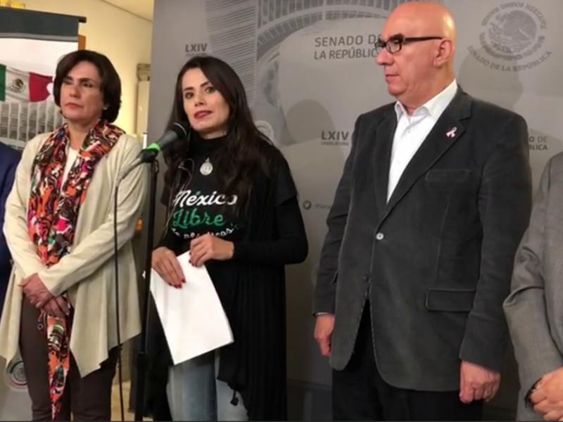 Senadores se reúnen con caravana migrante