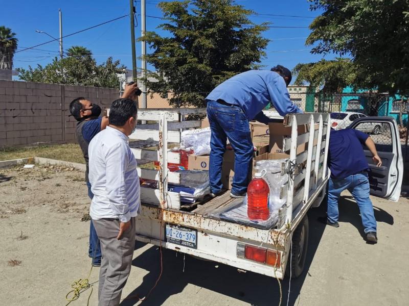 SEPyC entrega paquetes Sanitarios a escuelas en Ahome