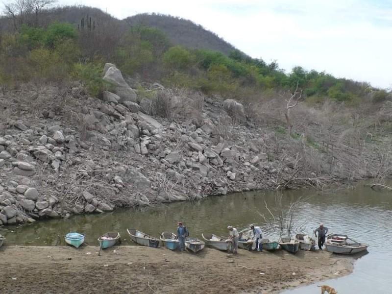 Sequía afecta producción pesquera en presas
