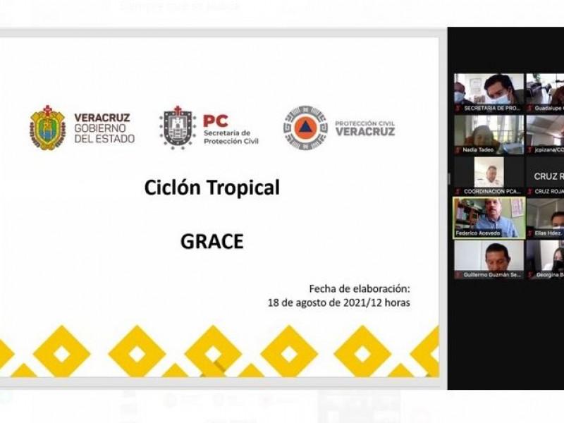 Sesiona Comité Estatal de Emergencias ante llegada del huracán Grace