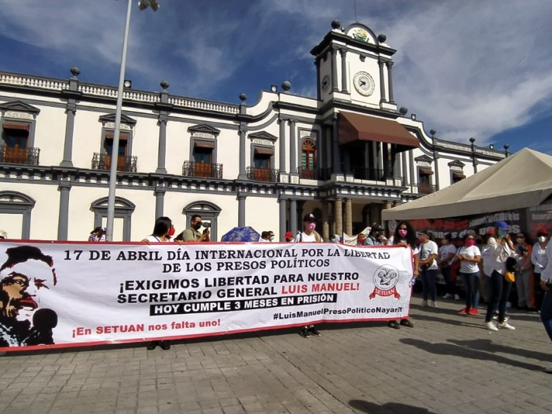 SETUAN realiza movilización en apoyo a Luis Manuel