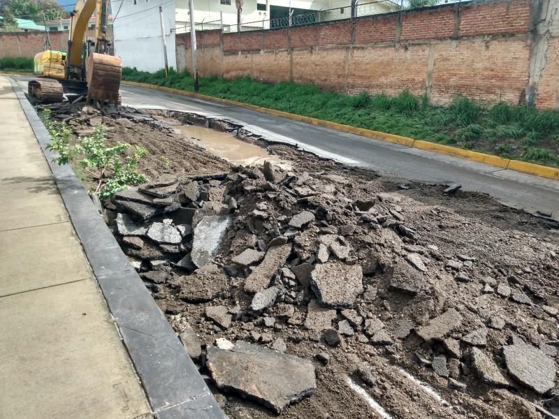Severos estragos en López Mateos Sur tras lluvia
