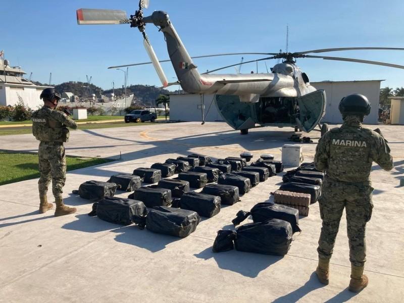 Sexta Región Naval de Manzanillo asegura 731.2 kilogramos de cocaína