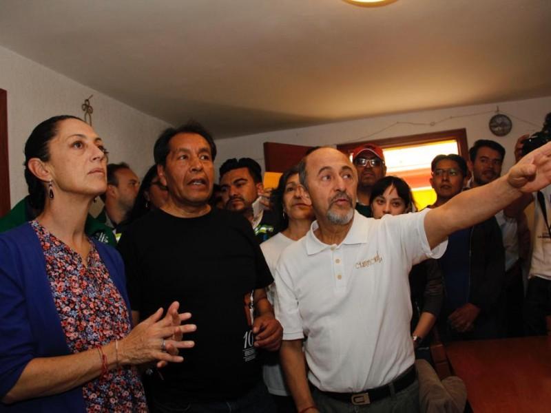 Sheinbaum supervisa reconstrucción en Tláhuac