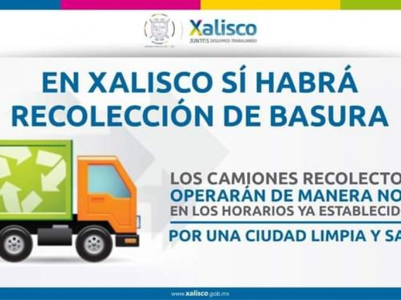 Si habrá recolección de basura en Xalisco
