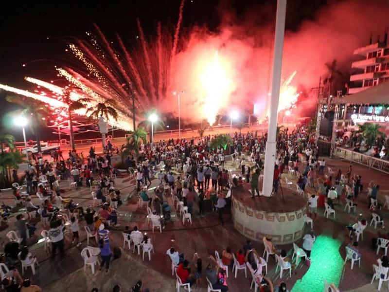 Si hubo Grito de Independencia presencial en Tuxpan
