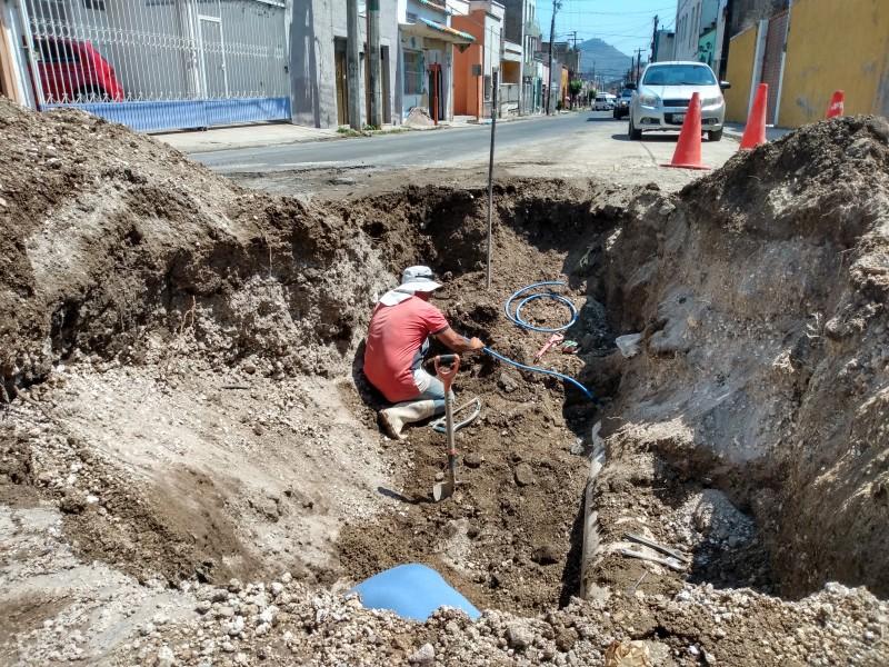 SIAPA repara tubería de la calle Veracruz
