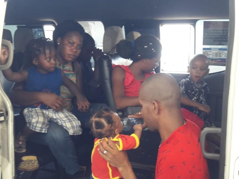 Siete migrantes haitianos fueron detenidos por el INMI