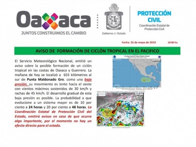 Sigue creciendo ciclón en Oaxaca