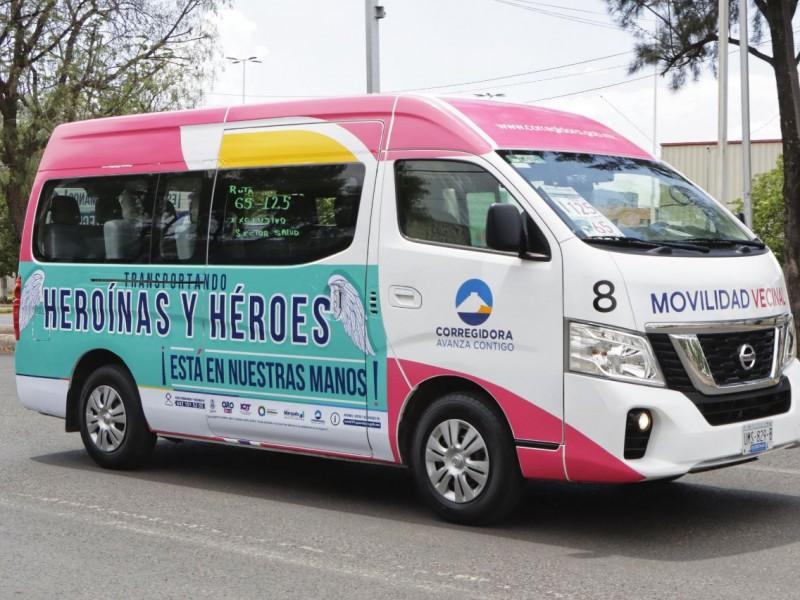 Sigue disponible transporte gratuito para personal de salud en Corregidora