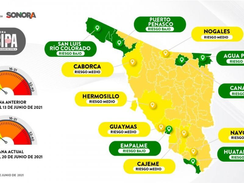 Sigue en aumento covid-19 en municipios de Sonora.