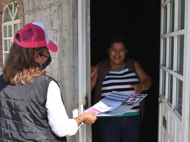 Sigue entrega de informe en colonias de Pedro Escobedo