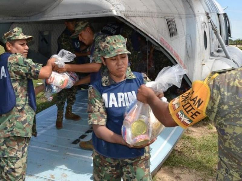 Sigue llegando ayuda a Sinaloa