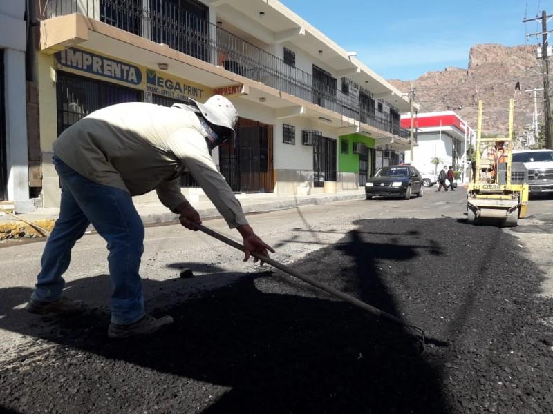Sigue rehabilitando calles Obras Públicas del Ayuntamiento
