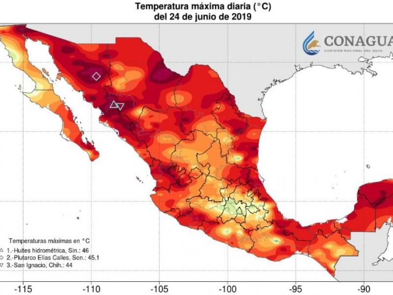 Sigue Sinaloa con las temperaturas más altas