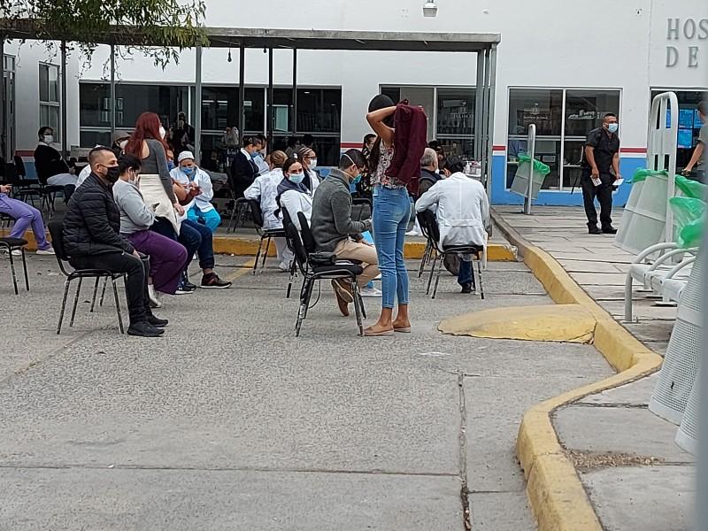 Sigue vacunación de personal en Zoquipan