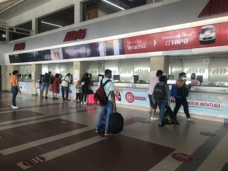 Siguen canceladas las corridas de autobuses a zona norte