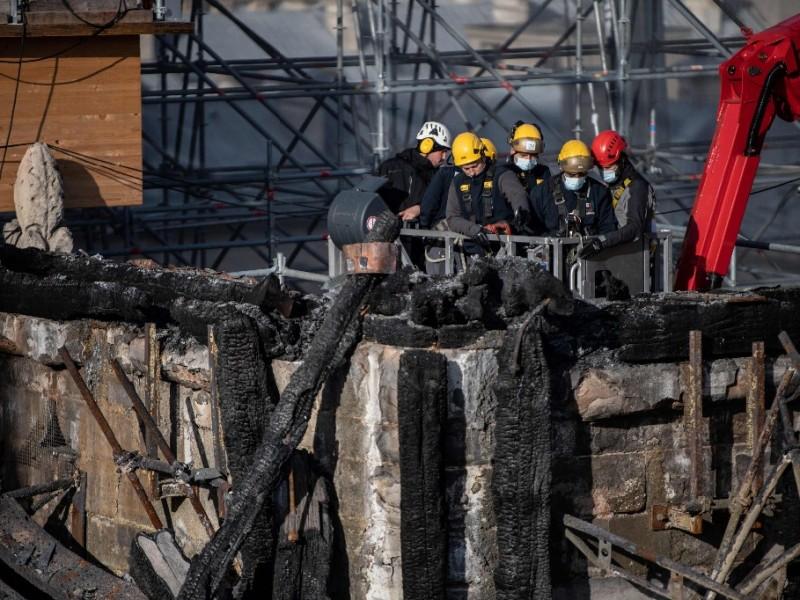Siguen los trabajos de restauración de Notre Dame