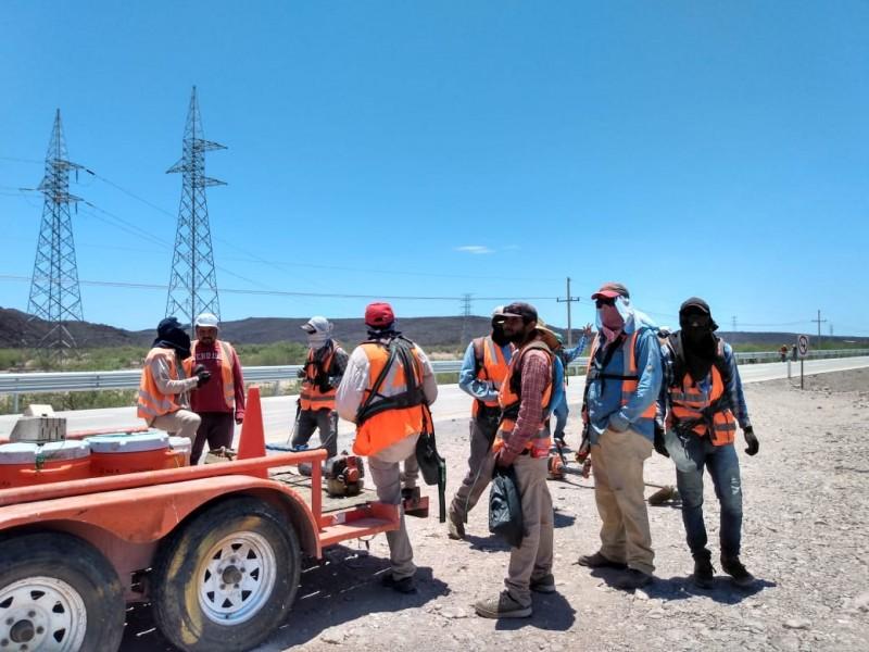 Siguen trabajando en Carretera cuatro carriles