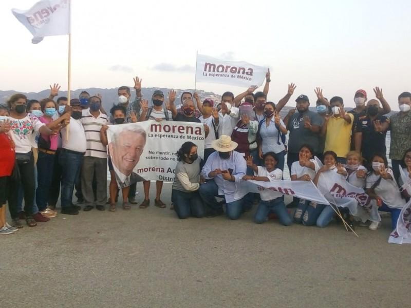 Simpatizantes de Félix Salgado, protestan en Acapulco