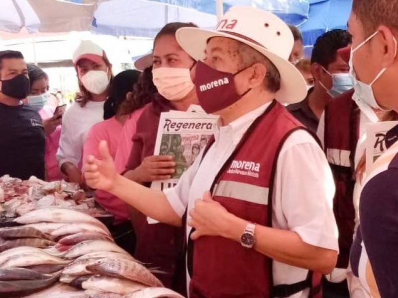 Sin candidato, inician campaña a gobernador por Morena en Acapulco