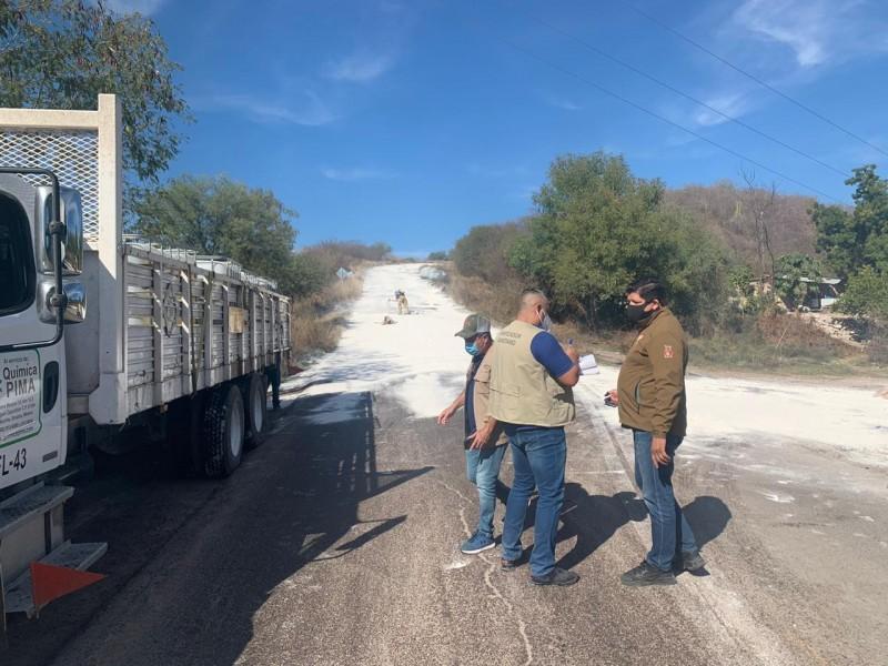 Sin daños por derrame de ácido fosfórico en El Fuerte