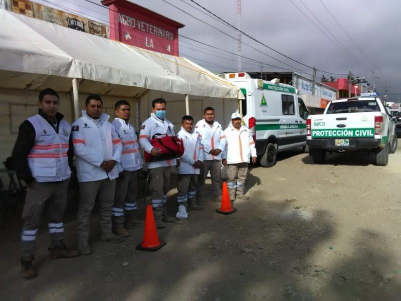 Sin decesos en Chiapas, reporta operativo de seguridad