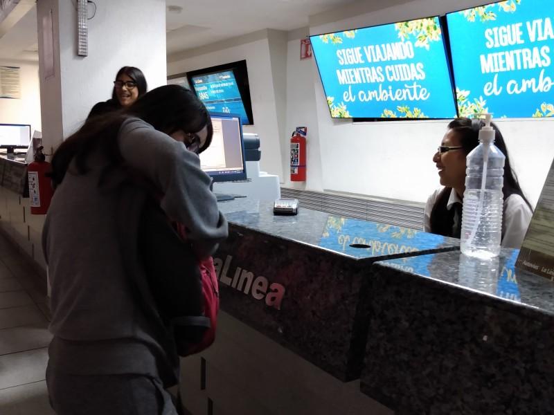 Sin filtros sanitarios central de autobuses en Zamora