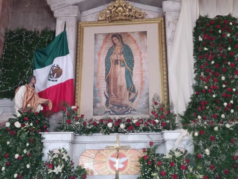 Sin peregrinación y con sana distancia celebración de la Virgen