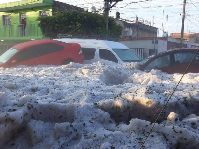 Sin recibir apoyo afectados por Granizada en Guadalajara
