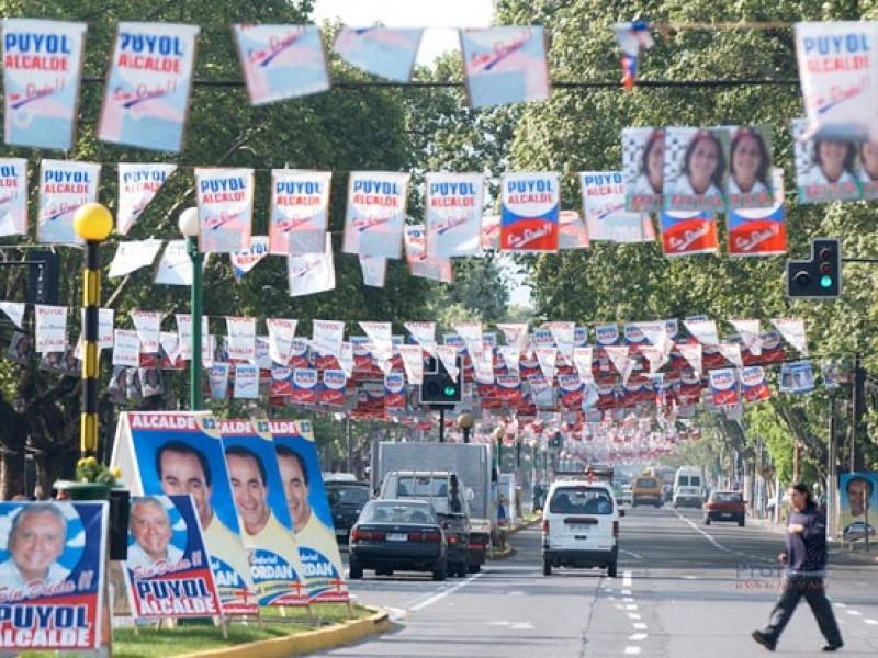 Sin retirar propaganda electoral