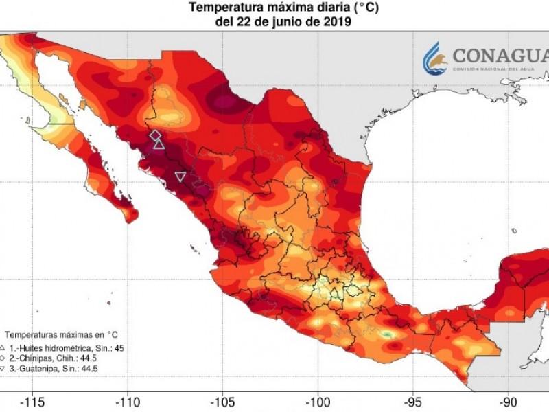Sinaloa sigue con las temperaturas más altas